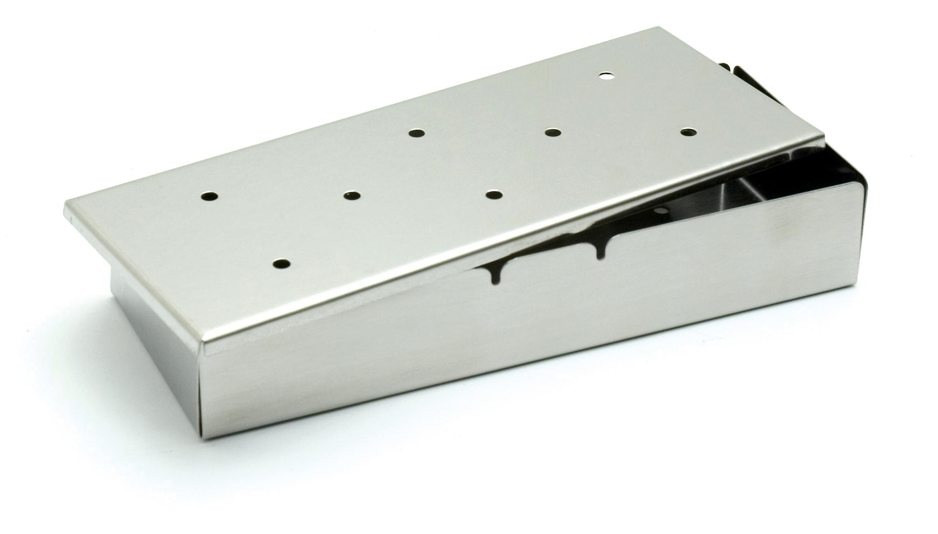 grill r ucherbox mit deckel in edelstahl grill shop. Black Bedroom Furniture Sets. Home Design Ideas