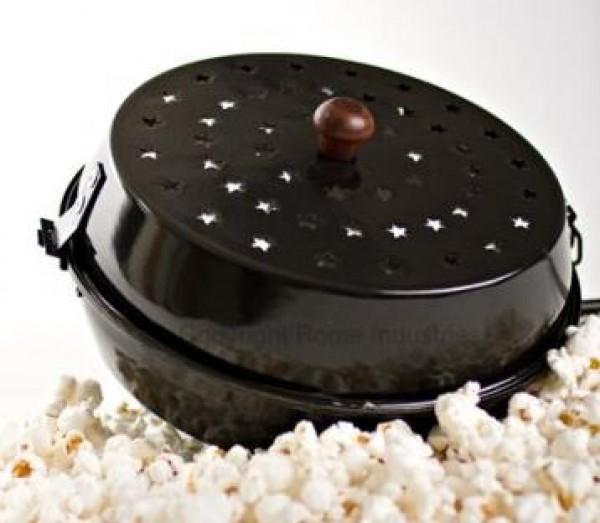 popcorn grill topf mit holzgriff popper emailiiert grill shop scheidegger. Black Bedroom Furniture Sets. Home Design Ideas